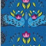 PEACOCK DREAMS Jersey Pfauen blau
