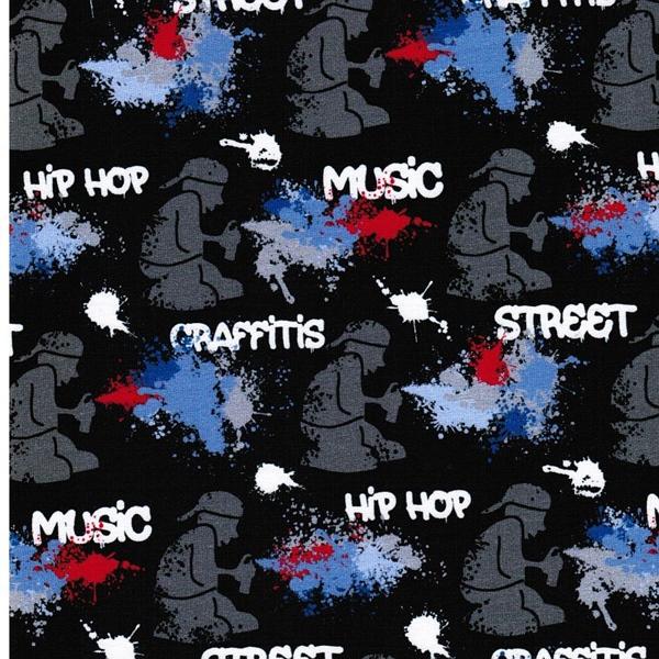GRAFFEUR Sweat Graffiti schwarz bunt