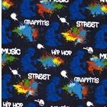 GRAFFEUR Sweat Graffiti blau bunt