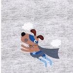 DOG PANEL 1 Sweat Rapport 49 cm grau