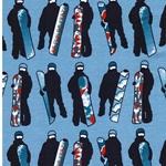 SNOWBOARD Sweat Snowboarder hellblau