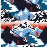 MOUNTAIN Sweat Berglandschaft blau