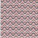 PANDA French Terry Pandaköpfe rosa