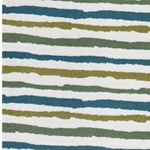 STRIPE 5 French Terry blau grün sandfarb