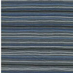 STRIPE 3 Sweat Streifen grau blau