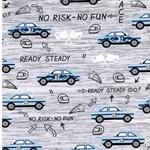 READY STEADY GO GREY Sweat Autos grau