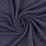 MASSIMO Tweed Fischgrat blau creme
