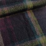 TONINO Wollstoff Karos violett grün petr