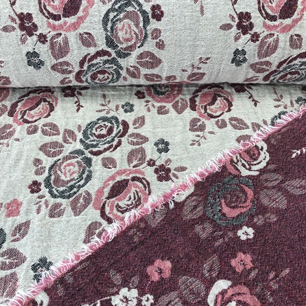 ROSI Jacken-Jacquard Rosen natur rosa