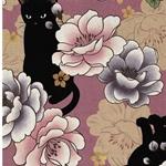 NEKO Webware Katzen große Blüten altrosa