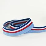 elastisches Einfassband mehrfarbig blau
