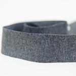 Gummiband 40 mm dunkelgrau meliert