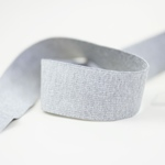 Gummiband 40 mm hellgrau meliert