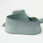 Gummiband Lurex 40 mm olive silber