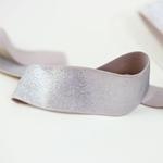 Gummiband Lurex 40 mm puder silber