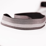 Gummiband 30 mm meliert gestreift taupe