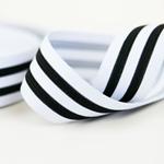 Gummiband 35 mm weiß schwarz