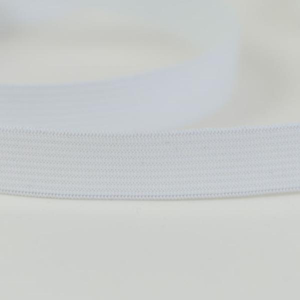 Gummiband 10 mm weiß