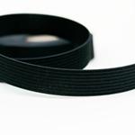 Gummiband 20 mm schwarz