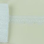 elastische Raschelspitze 30 mm weiß