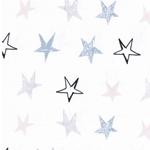 STARLIGHT Jersey Sterne weiß bunt