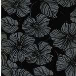 MARCEL Viskosejersey Blüten schwarz grau