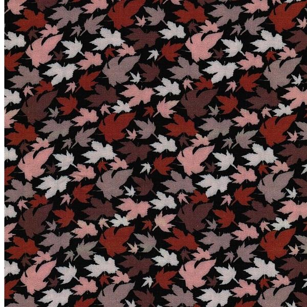 KATE Viskose Blätter schwarz bunt