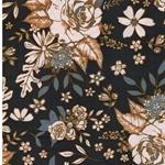 FLORAL UNIVERSE Popeline Blumen grau