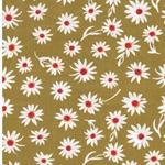 FLOWER GLORY Popeline Blumen ocker