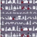RUDOLF Webware Weihnachtsmuster grau