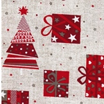 TALIN Canvas Weihnachtsmotive natur rot