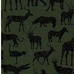 MICK Sweat Tiere Afrikas grün schwarz