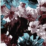 MICK Sweat große Blüten bordeaux mint