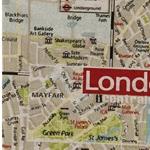 VENIDA Canvas London Stadtplan überbreit