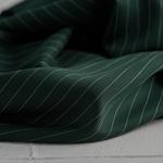TENCEL PIN STRIPE TWILL deep green