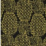 LEONA Wachstuch Ananas schwarz