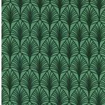 LEONA Wachstuch Fächer grün