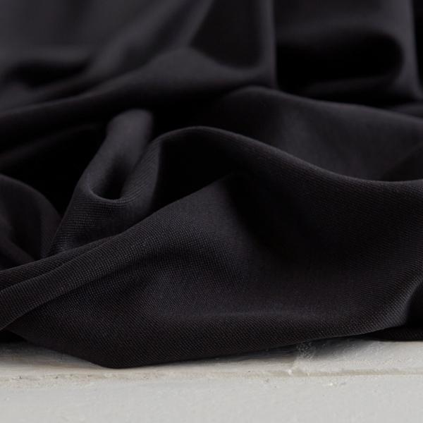 MODAL DOUBLE KNIT Jersey black