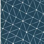 LUNA Wachstuch grafisches Muster petrol