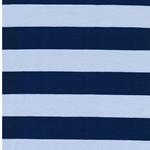 ISA Jersey Streifen 3 cm hellblau blau