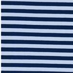 ISA Jersey Streifen 1 cm hellblau blau
