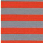 ISA Jersey Streifen 3 cm grau orange