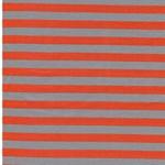 ISA Jersey Streifen 1 cm grau orange