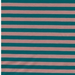 ISA Jersey Streifen 1 cm lachsrosa petro