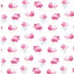 MINI SUMMER Jersey Wolken pink weiß
