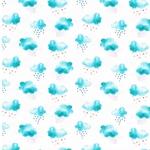 MINI SUMMER Jersey Wolken aquamarin weiß