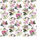 MINI SUMMER Jersey Blumensträuße pink