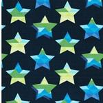 STARS & STRIPES Jersey Sterne navy grün