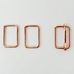 Metall-Set Schließe+Viereck 25mm kupfer