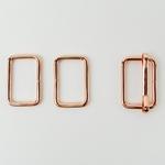Metall-Set Schließe+Viereck 40mm kupfer
